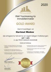 Fachtraining für Immobilienmakler Hartmut Wedow